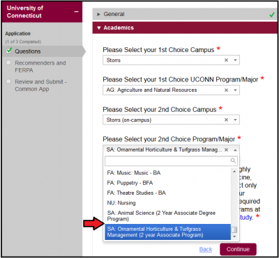 Common App choice 2