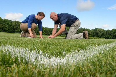 Checking Turf for Crabgrass
